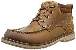 Clarks Mens Mahale Mid Tan Boots - 9 UK