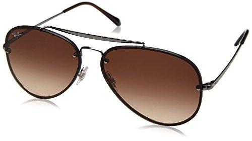 Ray-Ban RAYBAN Unisex-Erwachsene Sonnenbrille 0rb3584n 004/13 61 Gunmetal/Browngradientdarkbrown