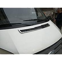 S. acciaio cromato cappellino ventilazione Hood Trim for 2006–2014Ford Transit MK7