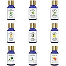 Sage Apothecary Essential Oil Combo 9 in 1 pack (Neroli, Frankincense, Turmeric, Lemon, Clove, Ginger, Patchouli, Citronella & Basil)│100% pure