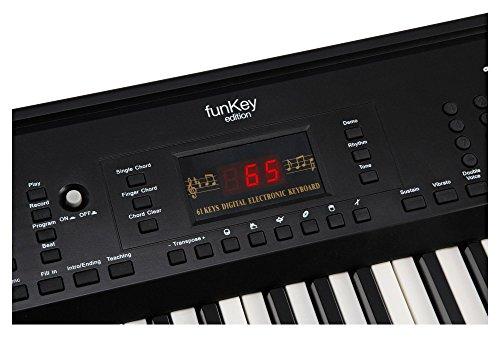 Funkey 00038126 61-Edition Keyboard (128-Sound, 128-Rhythmen, 10-Demo Song, Netzteil, Notenständer) schwarz - 5