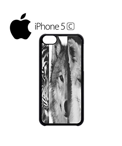 Tiger Wolf Fox Nature Wild Life Animal Funny Hipster Swag Mobile Phone Case Back Cover Hülle Weiß Schwarz for iPhone 5c White Schwarz