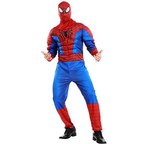 HYYSH Cosplay Hero Superman Kleidung Spiderman Adult Muscle Clothing Männlich