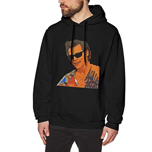 Harrisontdavison Herren Baumwolle Graphic Hoody Interessant Ace Ventura Black Langärmliges Sweatshirt XL -