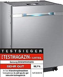 Samsung DW9000 DW60M9550US/EG Unterbau WaterWall-Geschirrspüler / Breite 59,8 cm / 14 Maßgedecke / ZoneBooster+ / Täglich 55 Minuten / Silber