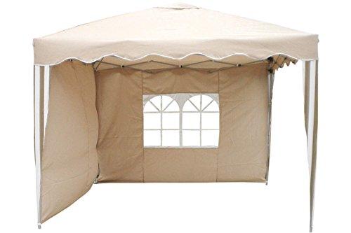 Unbekannt Alu Pop-up Pavillon 3 x 3 m Beige/Weiss Aluminium Faltpavi