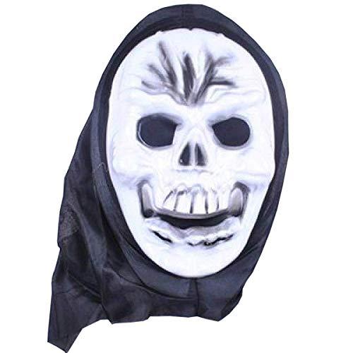 Maske Maskerade Prom Maske Latex Hölle Männliche Horrormaske Mit Geistern Halloween Kostüm Kopfbedeckung Skelett Mystisch Haunted Horror Halloween - Geist Captain America Kostüm