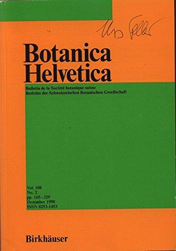 flora helvetica Fortschritte in der Floristik der Schweizer Flora (Gefäßpflanzen), in: BOTANICA HELVETICA, Dezember 1998.