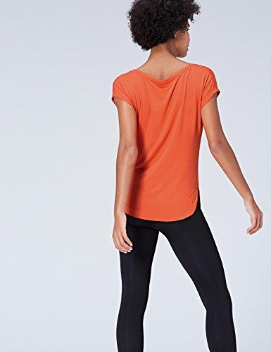 FIND Center Stitch Seam, Maglietta Donna Arancio (Orange)