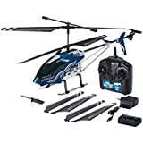 Revell Control RC Helikopter, großer ferngesteuerter Hubschrauber XXL, 2,4 GHz Fernsteuerung, Gyro, ruhige Fluglage, stabiles Metall-Chassis, LED-Beleuchtung, Stecker-Ladegerät - SKY CHAMPION 23926