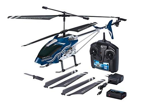 Revell 23926 Control RC Helikopter, großer ferngesteuerter Hubschrauber XXL, 2,4 GHz Fernsteuerung, Gyro, ruhige Fluglage, stabiles Metall-Chassis, LED-Beleuchtung, Stecker-Ladegerät - SKY CHAMPION