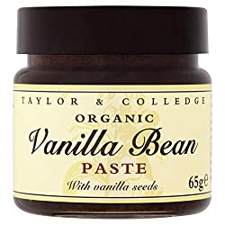 Taylor & Colledge Vanilla Bean Paste, Bio Vanille Paste, Fairtrade Organic, 1x 65g
