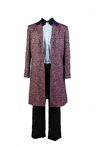 Doctor Who 11th Doctor Purple Wool Blend Cosplay Kostüm Set Herren XL (Doctor Who Kostüme Für Erwachsene)