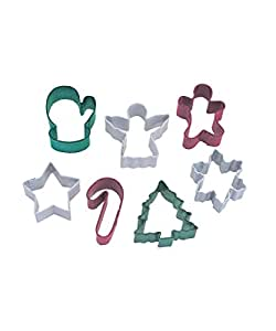 Mini Christmas 7 pce Coloured Cutter Set