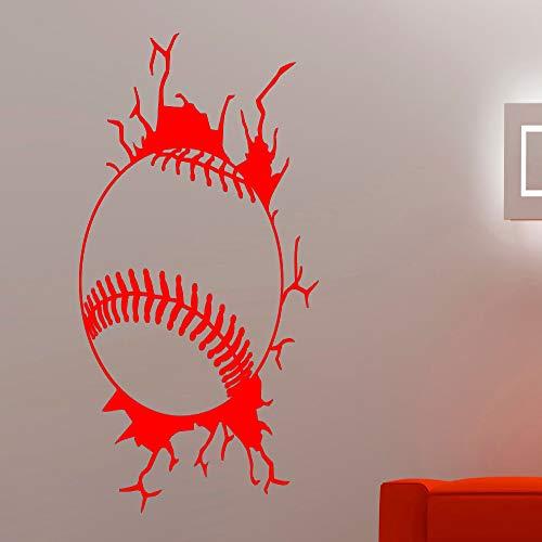 Serie Pos Tastatur (Baseball Kreative Wandtattoos Aufkleber Vinyl Sport Serie Wandbild Für Zuhause Jungen Kinderzimmer Schlafzimmer Coole Decor Art Wallpaper rot 42x58 cm)
