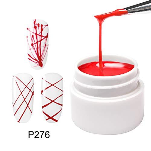 IY Nagelgel Metallic Design Linie Zeichnen Malen Dekoration Silk Gel Watopi ()
