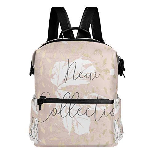 KIMDFACE Rucksack,Herbstkollektion Trendy Chic Gold Blush,Laptoptaschen Casual Print Umhängetasche Student Daypack Reisen Wandern Camping Packs(29 * 16 * 38 cm)