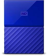 Western Digital My Passport Hard Disk Esterno Portatile, USB 3.0, Software di Backup Automatico, per PC, per Xbox One e PlayStation 4, 1 TB, Blu