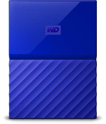 WD My Passport 2TB Portable Hard Drive and Auto Backup Software for PC, Xbox One and PlayStation 4 - Blue