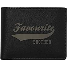 YaYa cafe Gifts for Brother, Favourite Brother Men's Leather Wallet for Brother