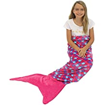 Sleepyheads Mermaid Tail Blanket Super Soft Fleece Sleeping Bag for Kids and Adults Pink and Purple with Pink Tail (SH5500-5002) by Sleepyheads