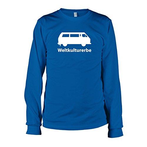 TEXLAB - Weltkulturerbe Bulli T3 - Langarm T-Shirt, Herren, Größe L, marine (Klassiker Marine-blau-t-shirt)