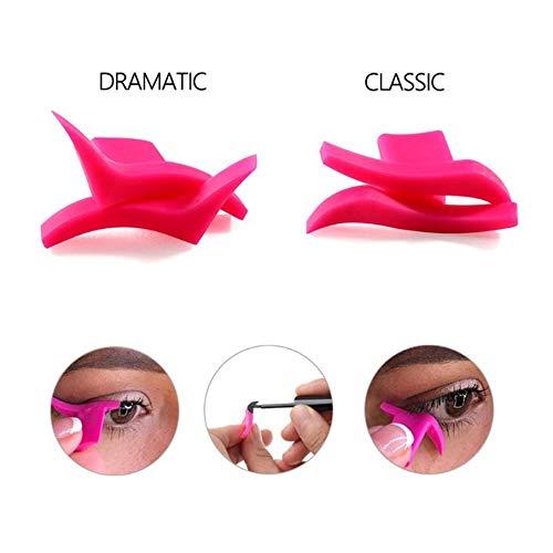 KNOSSOS Modelli di Eyeliner Modelli di Stencil Trucco Professionale Nuovi timbri di Eyeliner per Le Ali - Rosa