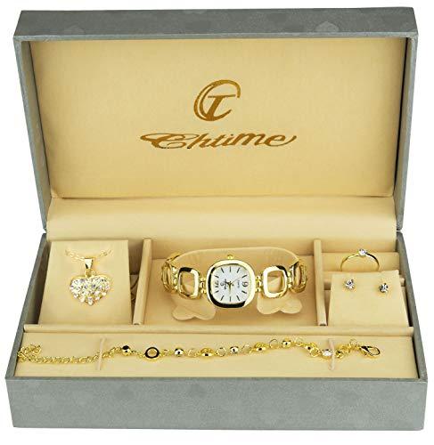 Caja Regalo Reloj Mujer - Juegos Joyas- Collar-Anillo-