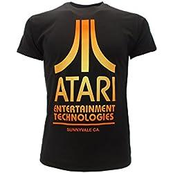 T-shirt Originale ATARI distressed Logo maglia maglietta console videogame Prodotto originale ATARI con cartellino ed etichetta (XL adulto)
