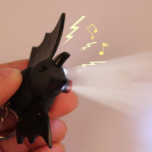 Luminous Sound Cartoon Plastic Bat Toy Pendant LED Portachiavi - Bat Torcia Portachiavi