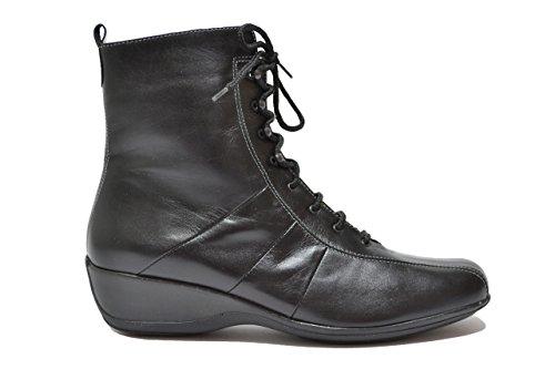 Melluso Tronchetti zeppa nero scarpe donna Walk R0430 38
