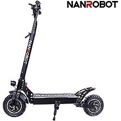 NANROBOT D4+ Adulte Scooter Pliable Trottinette électrique 52V 23,4AH Batterie Lithium Moteur Puissant de 2000W Vitesse maximale 65Km/h (D4+ Upgraded NO Seat)