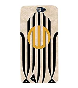 Vizagbeats vertical lines Back Case Cover for HTC One A9
