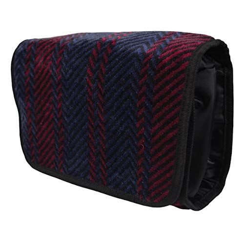 1f8887eca7ef Bown of London Arbroath Mens 100% Cotone Superficie Velour Finitura Viaggi  Toilette Bag In Navy