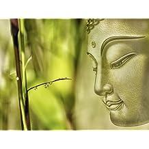 Póster de Impresión o Lienzo–Cuadro de Imagen Impresión Artland montado Madera Contrachapada en bastidor Susann mielke Buda en diferentes tamaños y colores disponible, lienzo o póster, verde, 30x40 cm / Poster