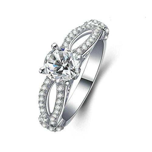 Daesar Silberring Damen Ring Silber Ehering für Damen Verlobungsring Benutzerdefinierte Ring Zirkonia Ring Hohl Eye-Mask Größe:49 (Schmuck Benutzerdefinierte Design Kostüme)
