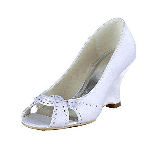 Kevin Fashion , Peep-Toe femme Beige - ivoire