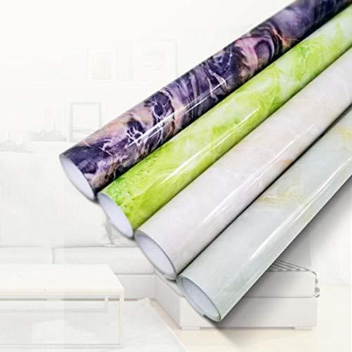 Wendaby Europäischen Stil Aufkleber Selbstklebende Wasserdichte PVC 3D Nachahmung Marmor Fliesen Aufkleber Peel Stick Papier Film Vinyl für Boden Wand Renovierung Küchentheke Top-60X300 cm