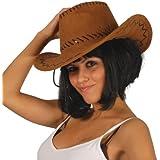 Guirma - Sombrero vaquero marrón piel