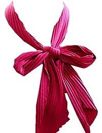 Dames Foulards Mode Élégante Pure Couleur En Plissée Mousseline De Style De  Fête Soie Plissée Petite Écharpe Chic Confortable… 4b92a96ef04