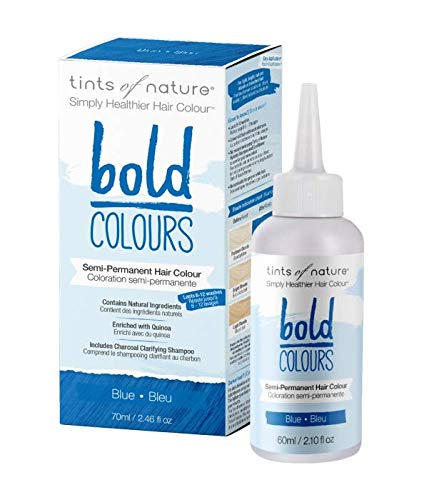 Tints of Nature Bold Blue Semi Permanent Natural Hair Dye | A Natural, Vibrant, Bold Blue Hair...