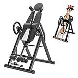 HECHEN Schwerkrafttrainer Inversionsbank, mit Verstellbarer Kopfstütze und Schutzgürtel-Rückenstrecker für die Schmerzlinderungstherapie - Heimfitnessgeräte mit einstellbarem Winkel