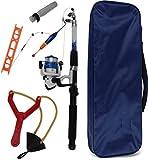 Storfisk fishing & more Kinder Allround-Angelruten Combo-Set mit Rolle, Futterschleuder inkl. Zubehör, Farbe :Blau