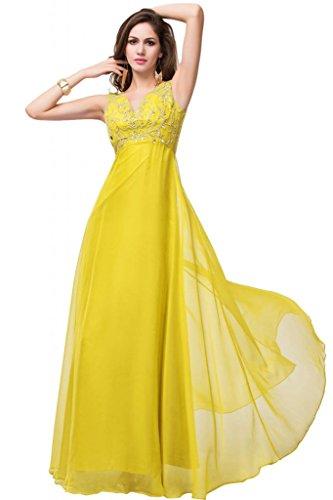 Sunvary, colore: lilla trasparente, vita da donna, scollo Empire Bridesmaid Pageant abiti lunghi Narciso