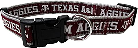 Pets Erste Collegiate Texas A & M Aggies Pet Halsband,