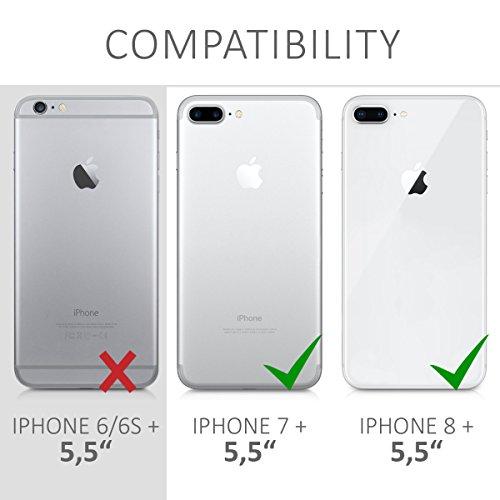 kwmobile Étui en TPU silicone élégant pour Apple iPhone 7 Plus / 8 Plus en or rose métallique .rose clair mat