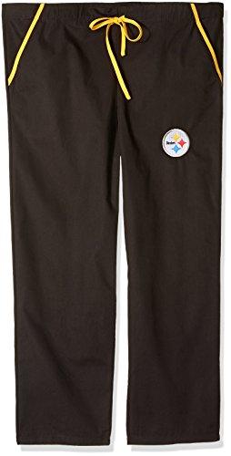 NFL Unisex NFL Solides Scrub Pants, Unisex, NFL Solid Scrub Pants, Schwarz, Small Nfl-scrubs