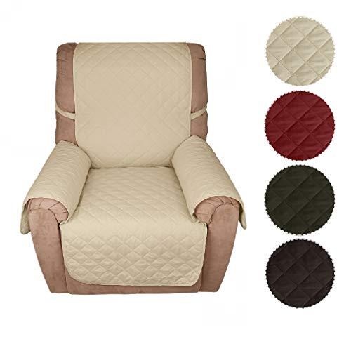 KINLO Sofa Abdeckung 1 Sitzer 177x56 Beige Schonbezug 100{2ad4d1ae2022260064cd16e50e892ded6f94c0380d38102e0a4d7ea0857c6d4b} Baumwolle Füllung sehr weich Sofa überwurf Top Qualität Sesselauflage aus Polster Material Eine gute Belüftung Sofahusse Couch