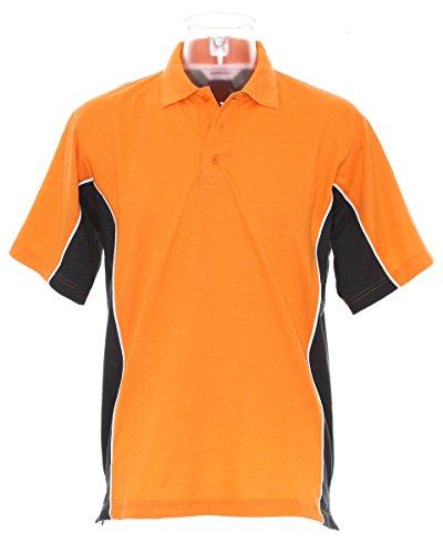 Gamegear Track Pique Polo - Orange/Graphite/White