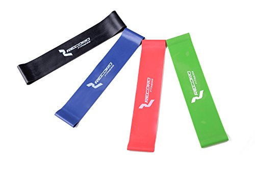 Résistance Boucle Bandes-Bandes d'exercice-Bandes élastiques fitness Renforce la allongées les fibres musculaires et augmenter votre souplesse incroyablement pour améliorer la mobilité, yoga et plus & # nitrure?; Lot de 4& # enduit?;